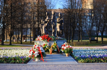 ST. PETERSBURG, RUSSIA - MAY 6: Opening of the War Memorial