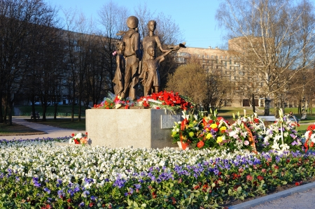 ST. PETERSBURG, RUSSIA - MAY 6: War Memorial