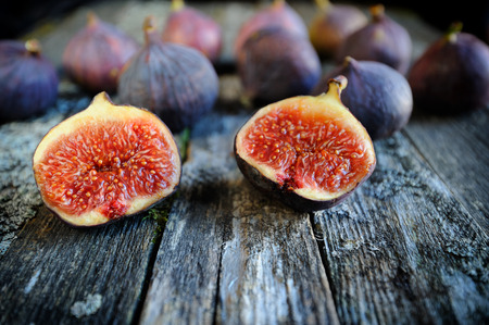 Fresh figs fruits close-up Stock Photo