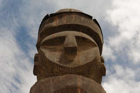 totem indiano: Il totem indiano antico. LEcuador. Il Sudamerica Archivio Fotografico