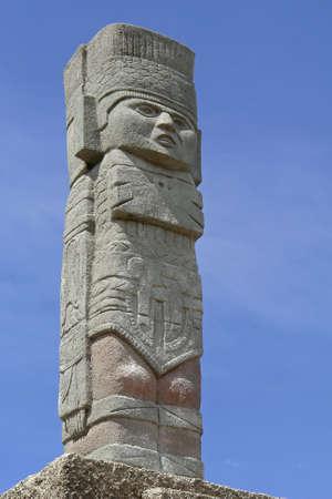 totem indiano: L'antico totem indiano. Ecuador. Sud America