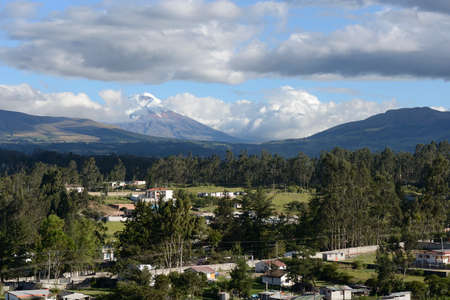 vividly: Latin American picturesque mountain view.