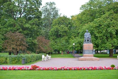friedrich: August, 2015 - Tallinn, Estonia. Kadriorg park. Monument to Friedrich Reinhold Kreutzwald.