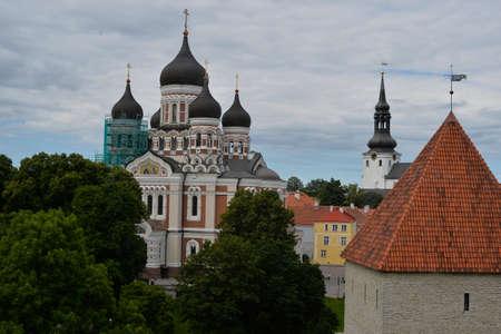 tallin: August, 2015  - Tallinn, Estonia. The Alexander Nevsky Cathedral is an orthodox cathedral in the Tallinn Old Town, Estonia.