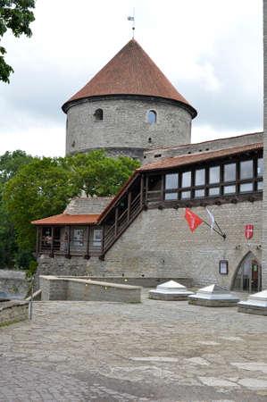 tallin: 15 of August, 2015. - Old Tallinn, Estonia. The maiden tower museum cafe. View from the Kiek in de kok museum. Editorial