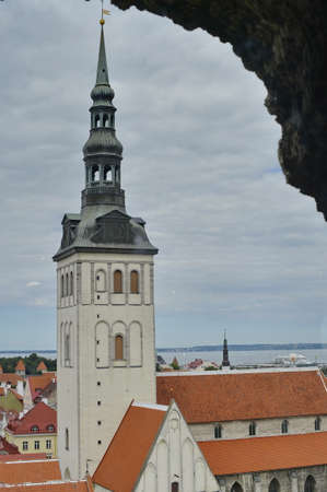 conquered: August, 2015  - Tallinn, Estonia. St. Olafs Church have been built in the 12th century and to have been the centre for old Tallinns Scandinavian community before Denmark conquered Tallinn in 1219.