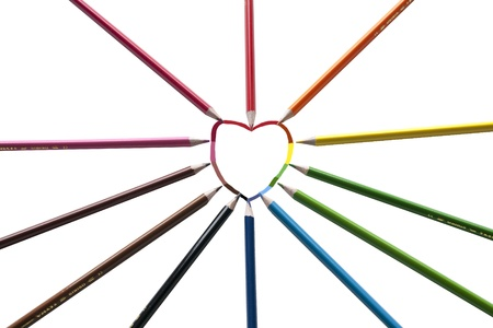 Heart painted with all colors photo