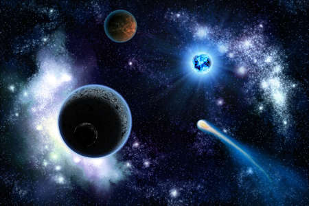 The two planets solarsystem deep in the galaxy