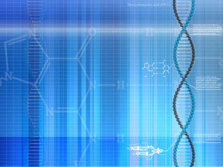 Digitally Generated background of Deoxyribo Nucleic Acid