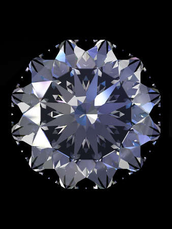 scintillate: Simple de diamantes con la reflexi�n aislada en fondo negro.