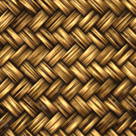 Seamless woven wicker background Stock Photo