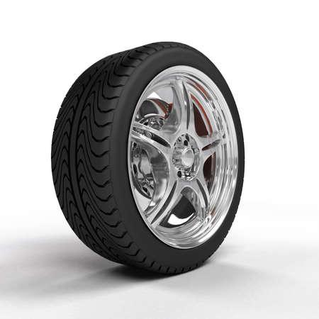 huellas de llantas: Coche rueda con llantas de acero, reflexiones