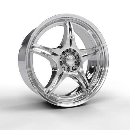 Car alloy rim isolated on white background