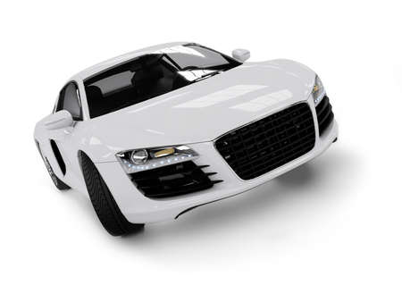 White modern car isolated on black background. isolated on black background. Exellent material for web banners