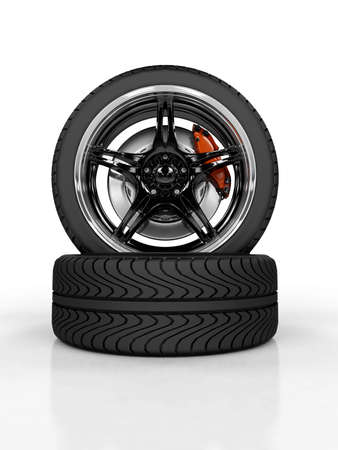 Racing carbon wheel on white background Stock Photo - 4544214