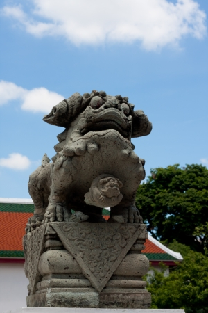 Chinese Imperial Lion The Temple of Thai and Thai relations with China as long as good Stock Photo - 14307713