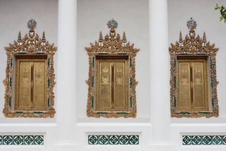 The three houses are arranged in the temple Stock Photo