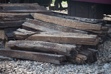 logging railways: Wooden rails