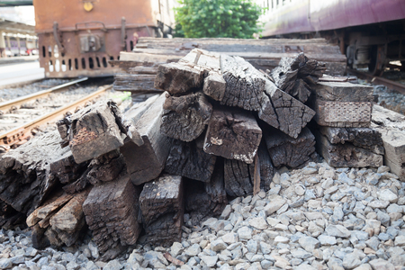 logging railways: Wooden for Repair rails