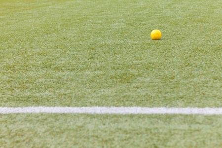 Yellow ball  for Training softball Stock Photo