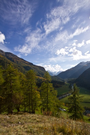 View from the Upper Engadine to Fortezza Rohan Stock Photo - 12693061