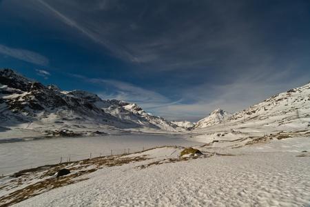 svizra: On the Bernina Pass near to the lago bianco