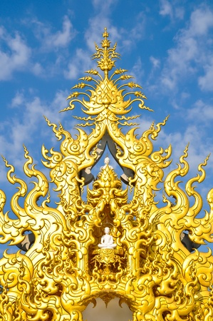 Famous Gold church in Wat Rong Khun, Chiang Rai province, northern Thailand  photo