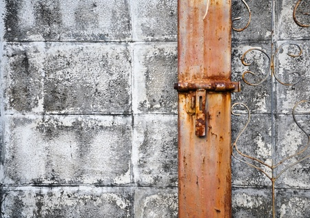Rusty lock with old wall Stock Photo - 9877956
