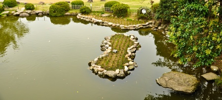 Japanese garden at Isahaya, Japan Stock Photo - 10003926