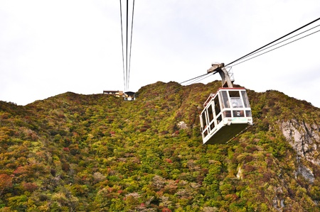 Cable car on the mountain at Obama, Japan