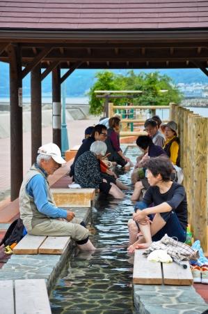 Pied-Unzen pr�s de la plage � Obama, Japon