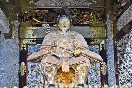gardian: Gardian in front of Shrine door at Nikko, Japan Editorial