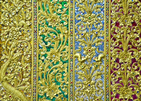 Thai Traditional Craft decorate at Phra Put Ta Bat Sri Roi Temple in Chiang Mai, Thailand Stock Photo - 11252615
