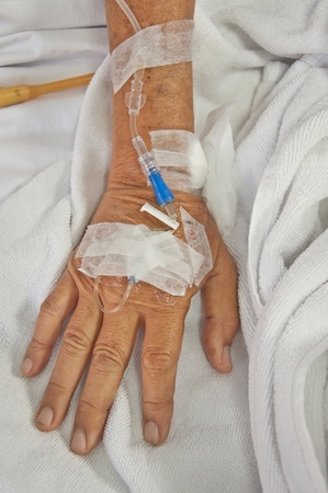 Old patient's hand photo