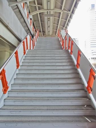 Escalier de Sky Train en Bangkok, Tha�lande Banque d'images