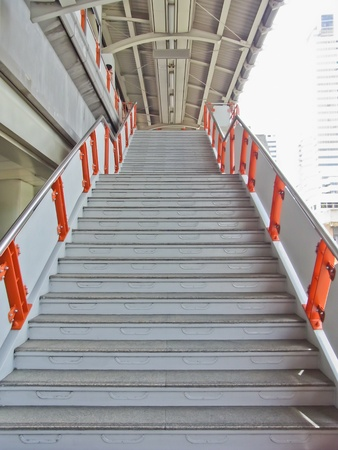 Stair of Sky Train in Bankok, Thailand