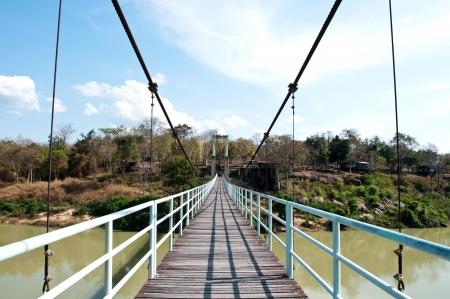 Rope bridge in Kangtana National park at Ubonratchathani, Thailand photo