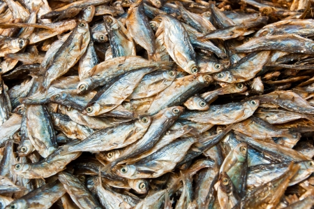 Dried fish in local market at Konpapeng Waterfall Stock Photo - 14216565