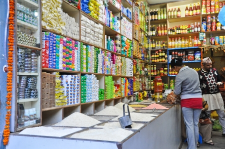 Grocery in Indian style in Pelling, Sikkim, India