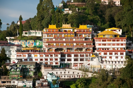 Druk Sa-Ngag Choeling Monastery in Darjeeling, India Stock Photo