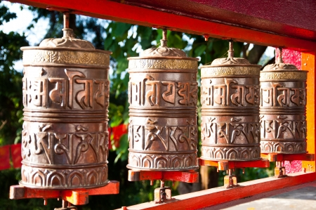Tibetan Metal Mantra Wheel