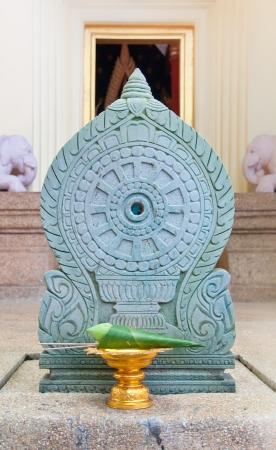 elaborate: Elaborate white lotus for worship buddha