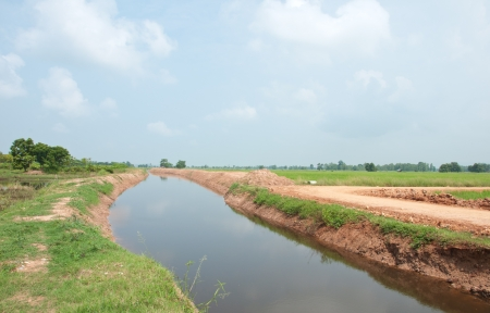 Canel in rural of Thailand Stock Photo - 16656256
