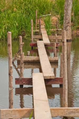 The footpath over the cannel to land Stock Photo - 17307256