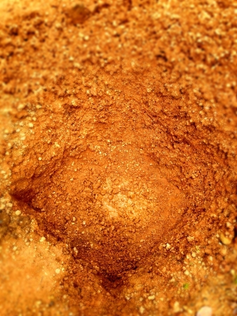 The soil make as hole for background