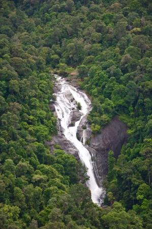 Le Telaga Tujuh (Seven Wells) cascade de t�l�ph�rique � Langkawi, Malaisie Banque d'images