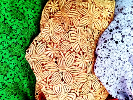 clothes: The colorful lacework clothes in Thai style