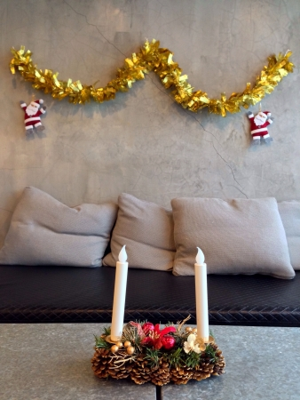 pillows: The living room for christmas day