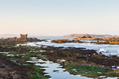 La c�te de Skala de la Ville le fort � Essaouira, Maroc