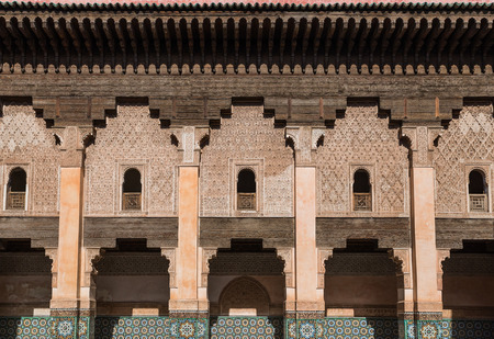 Le m�tier de marbre de la construction � la Medersa Ben Youssef � Marrakech �ditoriale